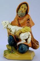 Fontanini 120 148 - Hirt mit Schaf kniend zu 12cm tipo legno