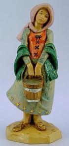 Fontanini 120 149 - Mädchen mit Eimer zu 12cm tipo legno
