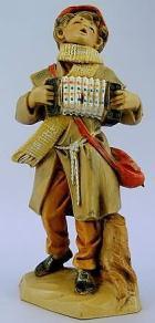 Fontanini 120 150 - Ziehharmonikaspieler zu 12cm tipo legno