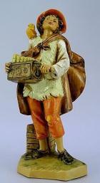 Fontanini 120 151 - Junge mit Drehorgel zu 12cm tipo legno