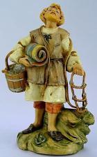Fontanini 120 155 - Mann mit Zaumzeug und Teppich zu 12cm tipo legno