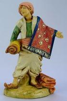 Fontanini 120 163 - Junge mit Teppich zu 12cm tipo legno