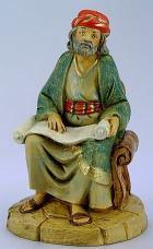 Fontanini 120 167 - Gelehrter sitzend zu 12cm tipo legno