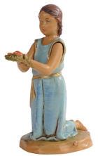 Fontanini 120 176 - Mädchen kniend zu 12cm tipo legno