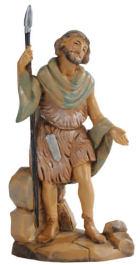 Fontanini 120 180 - Hirt mit Speer zu 12cm tipo legno