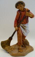 Fontanini 120 183 - Junge mit Besen zu 12cm tipo legno