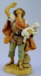 Fontanini 120 188 - Junge mit Schaf zu 12cm tipo legno