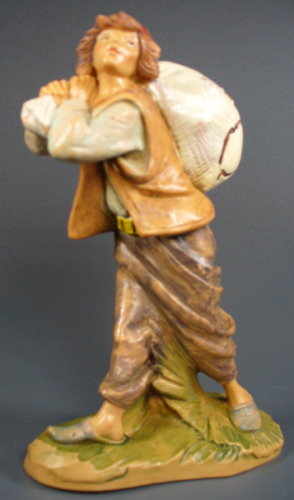Fontanini 120 191 - Junge mit Sack zu 12cm tipo legno