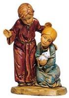 Fontanini 120 201 - Bub und Mädchen zu 12cm tipo legno