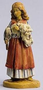 Fontanini 120 273 - Mädchen zu 12cm tipo legno
