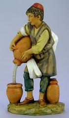 Fontanini 120 284 - Junge mit Krügen zu 12cm tipo legno