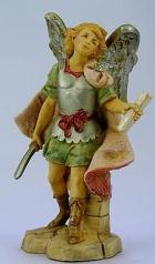 Fontanini 120 291 - Engel mit Botschaft zu 12cm tipo legno