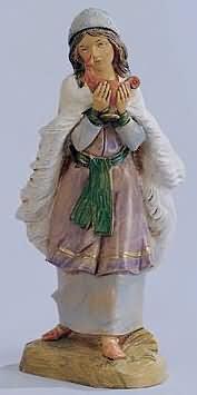Fontanini 120 298 - Frau mit Lampe zu 12cm tipo legno