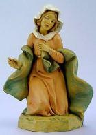 Fontanini 120 002 - Maria kniend zu 12cm tipo legno