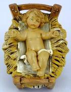 Fontanini 120 014 - Jesus in Krippe zu 12cm tipo legno