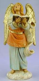 Fontanini 120 841 - Engel singend mit Buch zu 12cm tipo legno