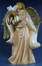 Fontanini 120 1081 - Engel mit Taube zu 12cm tipo legno