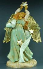 Fontanini 120 1080 - Engel mit Stern zu 12cm tipo legno