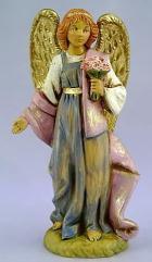 Fontanini 120 391 - Engel mit Blumen zu 12cm tipo legno