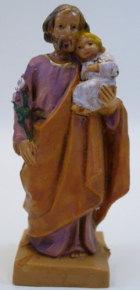 Fontanini 065 JK - Hl. Josef mit Jesuskind zu 6,5cm tipo legno