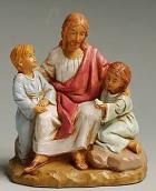 Fontanini 120 592 - Jesus mit Kindern zu 12cm tipo legno