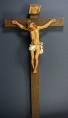 Fontanini 120 N.4/B - Jesus am Kreuz zu 12cm tipo legno