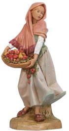 Fontanini 300 28 - Mädchen mit Früchten zu 30cm tipo legno