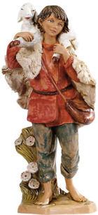 Fontanini 300 53 - Junge mit Schulterschaf zu 30cm tipo legno