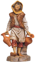 Fontanini 300 35 - Junge mit Amphoren zu 30cm tipo legno
