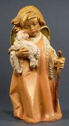 Fontanini 190 662 - Engelchen mit Lamm zu 19cm tipo legno