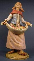 Fontanini 190 365 - Mädchen mit Obst zu 19cm tipo legno