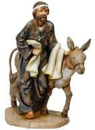 Fontanini 190 363 - Mann mit Esel zu 19cm tipo legno