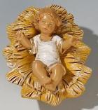 Fontanini 190 314 - Jesuskind in Wiege zu 19cm tipo legno