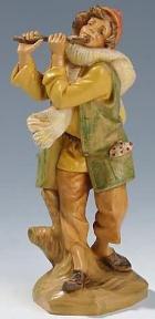 Fontanini 190 347 - Junge mit Flöte zu 19cm tipo legno