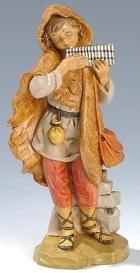 Fontanini 190 346 - Junge mit Panflöte zu 19cm tipo legno