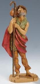 Fontanini 190 341 - Hirt mit Stab zu 19cm tipo legno
