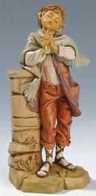 Fontanini 190 338 - Junge mit Flöte zu 19cm tipo legno