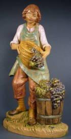 Fontanini 190 334 - Junge mit Trauben zu 19cm tipo legno