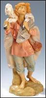 Fontanini 190 332 - Junge mit Schaf zu 19cm tipo legno