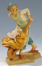Fontanini 190 326 - Junge mit Schubkarren zu 19cm tipo legno