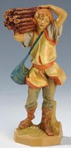 Fontanini 190 325 - Junge mit Holzbündel zu 19cm tipo legno