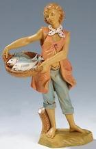 Fontanini 190 322 - Fischerjunge zu 19cm tipo legno