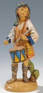 Fontanini 190 137 - Junge mit Trommel zu 19cm tipo legno