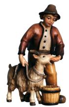 801016 Ko - Junge mit Ziege