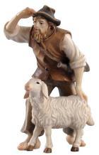 801035 Ko - Hirt stehend mit Schaf