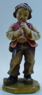 801072alt Ko - Bub mit Trompete zu 16cm coloriert, alte Ausführung mit Sockel
