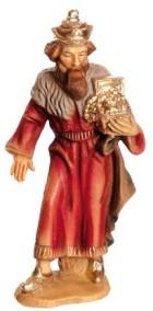 Marolin 73503.1 - König weiß, stehend zu 9cm, Kunststoff