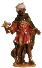 Marolin 74503.3 - König schwarz, stehend 12cm, Kunststoff