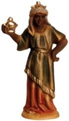 Marolin 71503.3 - König schwarz stehend zu 7cm, Kunststoff