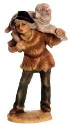 Marolin 71516 - Hirte mit Schaf auf Schulter zu 7cm, Kunststoff